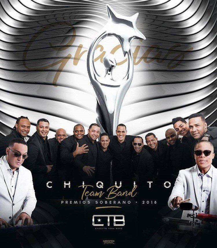 Chiquito Team Band gana premio Soberano por quinto año seguido