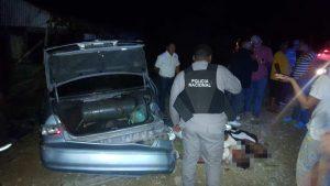 Dos muertos accidente de tránsito carretera Moca-Licey